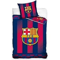 FCB FC Barcelona Juego de Cama, algodón, Rojo/Azul, 27x 39x 4cm