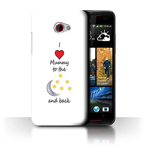 Stuff4® H³lle/Case f³r HTC Butterfly S/Ich Liebe Mama/Mond Muster/Ich Liebe Meine Mumie Vati Kollektion (Butterfly Mama)