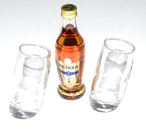 pair-of-ludico-tilted-shot-glasses60ml-with-metaxa-7-star-brandy-5cl-miniature