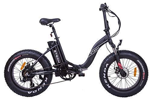 Fat-Bike Bicicletta Elettrica Pieghevole a...