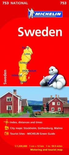 Sweden - Michelin National Map 753 (Michelin National Maps) por Michelin
