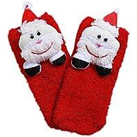 BESTOYARD Resistencia 3D Santa Claus Calcetines Polar de Coral Skid Calcetines Lindos para el bebé Infante (patrón Infantil, 1-5 años)