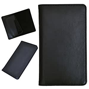 DCR Pu Leather case cover for Micromax Canvas L (black)