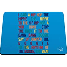 Hippowarehouse I said a hip hop the hippie printed mouse mat pad accessory black rubber base 240mm x 190mm x 60mm