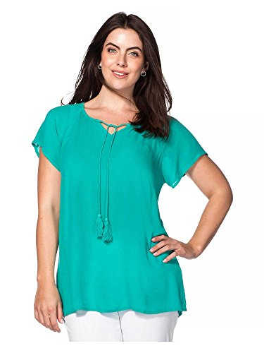 sheego Casual Femmes Tunique T-shirt Grandes tailles Menthe