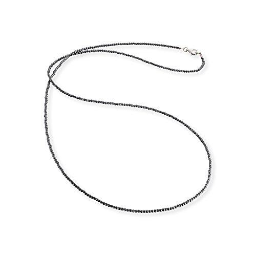 Engelsrufer Kette für Damen 925er-Sterlingsilber Hämatit Länge 80 cm
