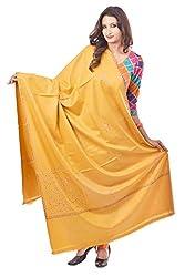 Weavers Villa - Women's Woolen Embroided Yellow Shawls , Stoles