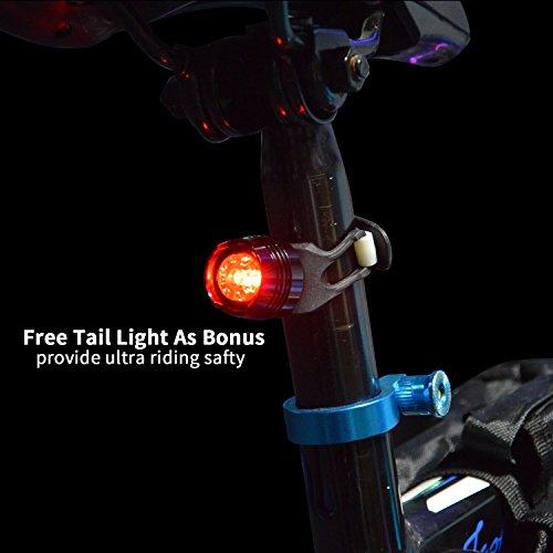 Sistema de luz de la Bici, WONTECHMI Luces de la Bici de LED Delante y detrás, Recargable por USB. Luces Estupendas de la Bicicleta, linterna de la Bici, IP65 Impermeable, incluye luz libre Trasera y Montaje del Casco