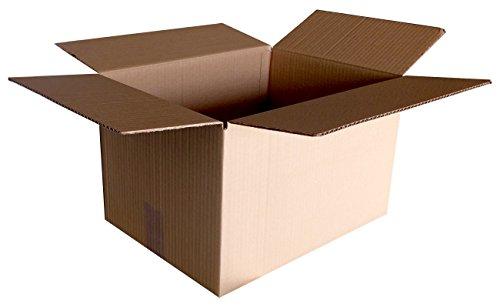 Caja de cartón resistente para mudanzas. Muy práctica. Estilo americana con 4 solapas. Medidas interiores 600x400x300 (mm)