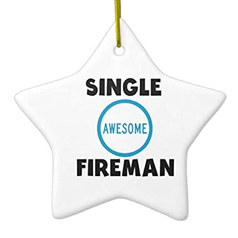 Christmas Ornaments Single Awesome Fireman Holiday Tree Ornament Both Sides Star Ceramic Ornament Crafts Christmas Gifts