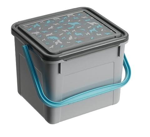 Rotho Aufbewahrungsbox für Tierfutter aus Kunststoff (PP), mit Tragegriff und Motiv auf Deckel, für circa 3 kg Trockenfutter