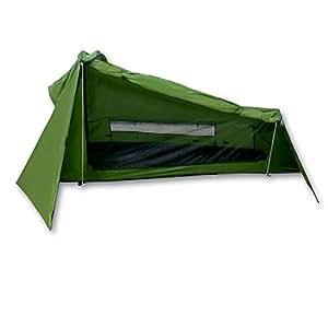 Outdoorer Tente Trek Santiago – vert, 1,15 kg, petit encombrement, tente légère pour 1 personne