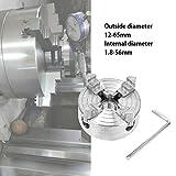 Acogedor Mandrino autocentrante per tornio, Mandrini a 4 Griffe, mandrino autocentrante Manuale, Resistente all'Usura, Resistente e Durevole, per la Lavorazione del Legno.