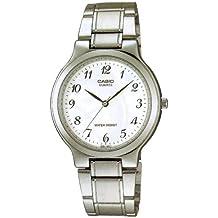 CASIO 19040 MTP-1131A-7B - Reloj Caballero cuarzo brazalete metálico dial blanco