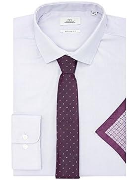 next Uomo Camicia Oxford Vestibilità Regular Con Cravatta E Fazzoletto Da Taschino Vestibilità Regular
