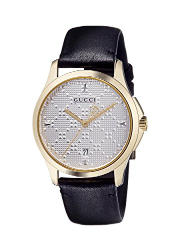 Gucci Unisex-Adult Analogue Classic Quartz Watch with Leather Strap YA1264027