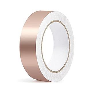URXTRAL Kupferband Selbstklebend EMI Abschirmband Kupferfolie Kupferband Schneckenschutz(30mm*20m)