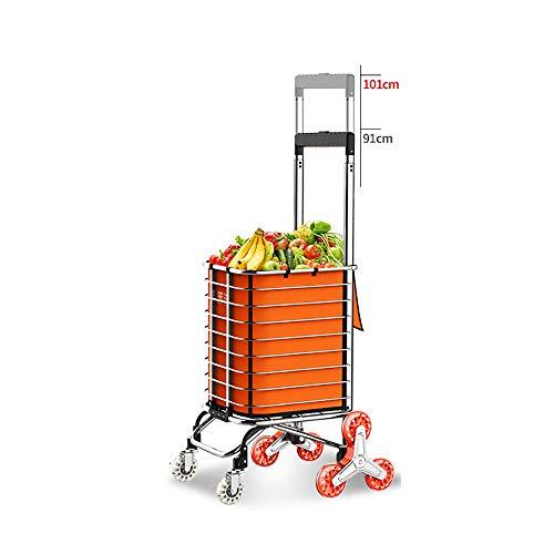 Einkaufswagen Faltbarer Haushalt Einkaufstrolley Multifunktions Pull Ware Gepäckanhänger Höhe Einstellbar GW (Farbe : C)