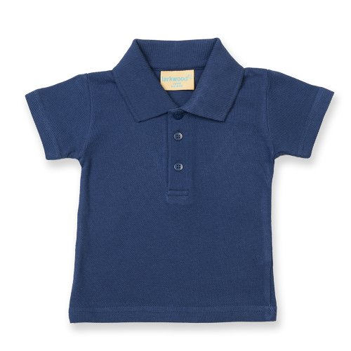 Larkwood Kleinkinder Polo Shirt (12-18 Monate) (Marineblau) (Print Klassische Stärken)