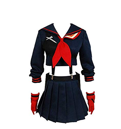 Tianxinshop Kill la Kill Ryuko Matoi Dress Suit Cosplay Costume (Ryuko Cosplay Kostüm)