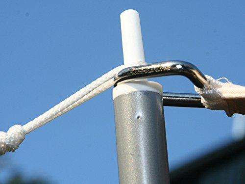 PEGANE Piquet de Soutien de 2.50 m pour Voile d'ombrage Triangulaire en Polyester 280 grs/m² Anti-UV, 500 x 500 x 500 cm