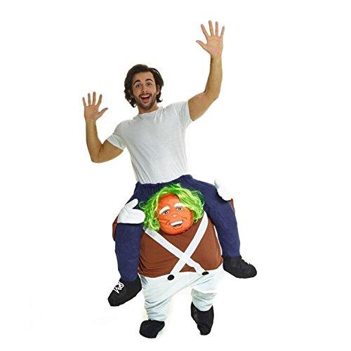 Morph MCPBCW Mach es selbst Füllung Halloween Karneval Huckepack Kostüm, Oompa Loompa, - Oompa Loompa Kostüm Kinder