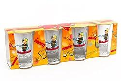 4 Schnapsgläser Feuerwehrmann Brandlöscher- Geschenk Schnapsglas