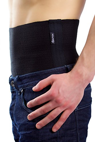 ®BeFit24 Elastischer Premium- Nierenwärmer für Damen und Herren – schützt die Muskulatur des unteren Rückenbereichs vor Verletzungen – Perfekter Rückenwärmer für Training, Fitness, Skifahren – Nierengurt - Back Support Belt - [ Size 4 ]