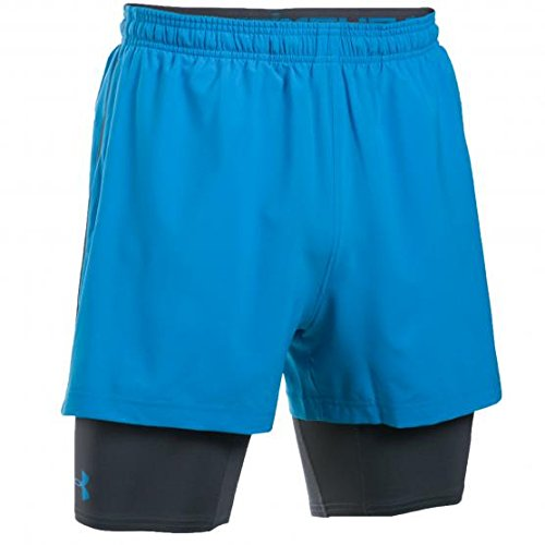 Under Armour UA Mirage 2 in 1 Pantaloncini, Uomo, Ua Mirage 2-in-1 Shorts, Blu acceso, M