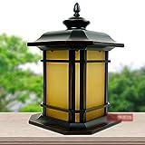 Lampada da comodino retrò a luce colorata da parete Colonna luminosa da giardino Cortile esterno da giardino Villa Lampada da tavolo impermeabile IP55 Lampada da terra con lanterna pilastro E27