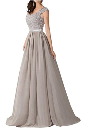 VICTORY Bridal simple pointe soir Vêtements longue mousseline de soirée StandART42Demoiselle d'Honneur neuf bleu roi