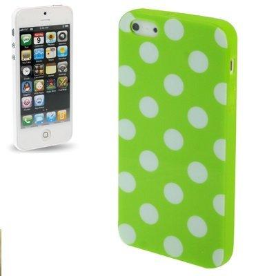 Cover gel semi rigido, modello a pois, per iPhone