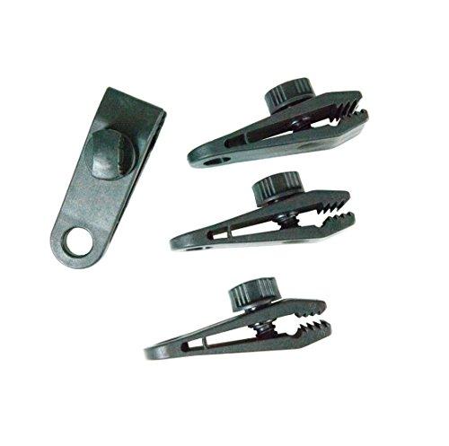 Windhager Planenclip, Halterung Spanner Befestigungsclip für Plane Zelt Gewebeplane Set 8 teilig, schwarz, 0,83 x 2,6 x 2,8 cm, 07010