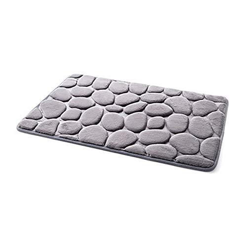 YWLINK Memory-Schaum Bad-Teppiche Angenehm Weiches Wasser SaugfäHig WC Badezimmer Teppich Badematte FußMatten Teppich Teppiche Pebble Atmungsaktivem -
