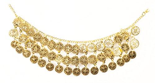 Bauchtanz Münzen Halskette (dreieckigen) gold