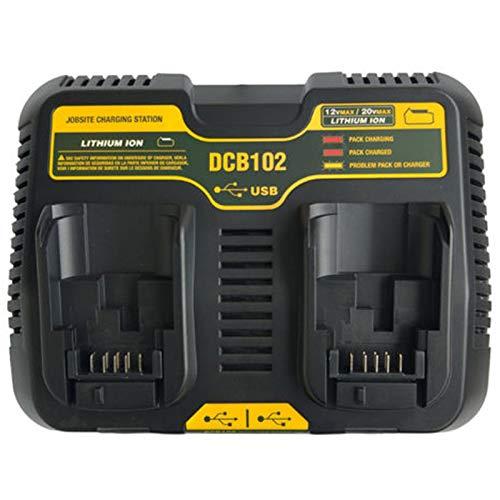 Cikuso Werkzeug Zubeh?r Dcb102 Doppel Li-Ion Batterie Ladeger?t USB Auslass 5 V Für 10,8 V 12 V 14,4 V 18 V Dcb101 Dcb200 Dcb140 Dcb105 Dcb200(Eu Stecker)