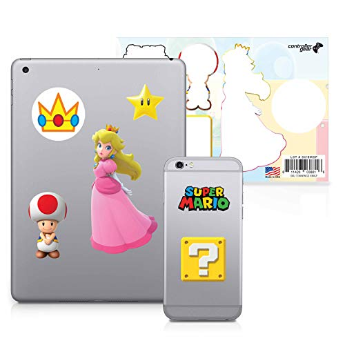 Controller Gear Super Mario - Character Tech Decal Pack - Peach's Kingdom - Nintendo Wii; GameCube