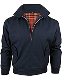 Vintage Harrington New Adults British Made Harrington Jacket Coat Bomber Classic 1970'S Vintage Retro Mod Skin Scooter Tartan Lining 5 Colours S-5XL