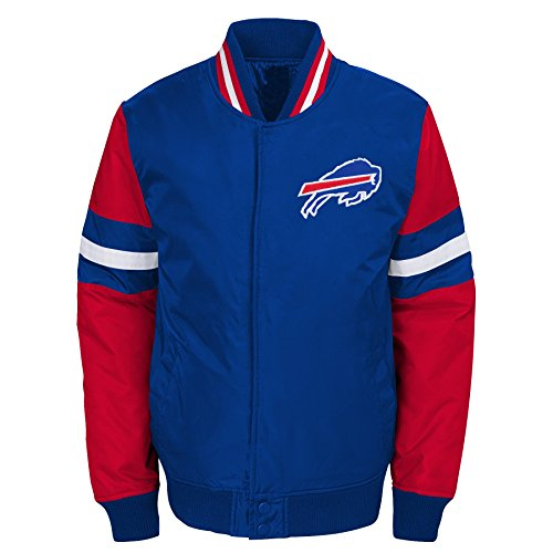 NFL Buffalo Bills Youth Boys Legendary Color Blocked Varsity Jacket Royal, Youth X-Large(18)