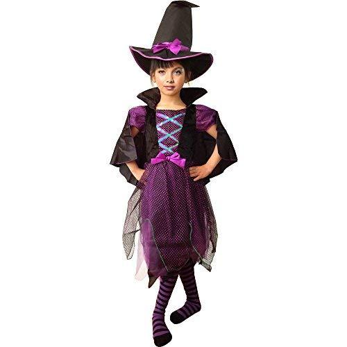 Hexe Kostüm für Kinder Mädchen Halloween Kostüm Funkelnde Hexe Kleid mit Deluxe ()