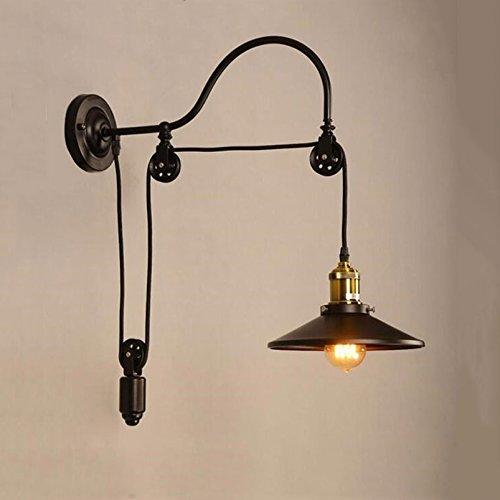 Wandleuchte Industrie, Vintage-Wandleuchte aus Eisen, verstellbar, für Schlafzimmer, Restaurant, Läufer, Café, BH