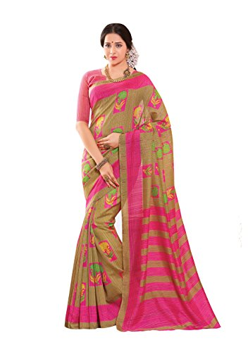 Miraan Women's Cotton Saree With Blouse Piece (SRH1574_MultiColoured_One Size)
