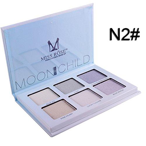 Verbesserung Der Lippenfarbe (Highlighter Yiitay 6 Farben Long Lasting Highlighter Palette Gesicht Makeup Contour Palette)