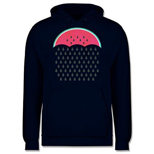 Statement Shirts - Watermelon Rain - Männer Premium Kapuzenpullover / Hoodie Dunkelblau