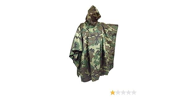 Jagd Angeln Outdoor Army Bundeswehr Regenponcho Regenjacke N/ässeschutz Camouflage Flecktarn Wasserdicht