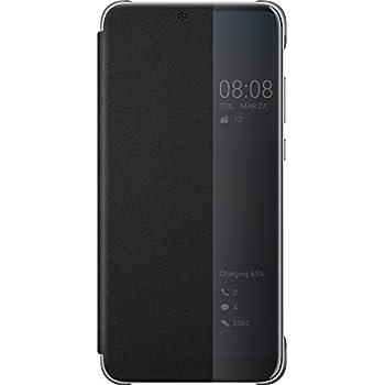 Huawei Officiel Smart View Flip Cover Coque Housse Étui pour Huawei P20 - Noir