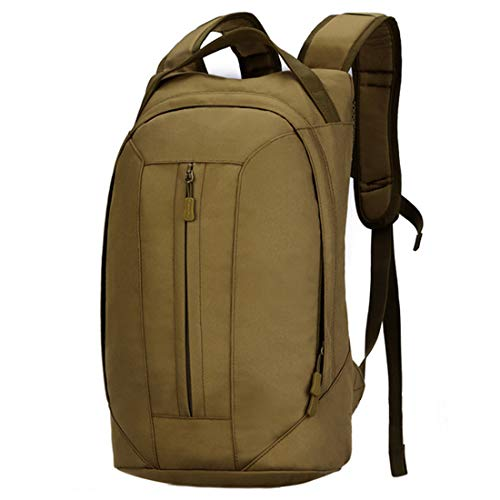 Selihting 25l zaino tattico militare zaino sportivo porta sacca di acqua zaino da cicilismo zainetto per campeggio alpinismo escursionismo viaggio trekking (marrone)