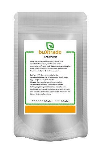 GABA Pulver - Gamma | Aminobuttersäure | rein VERSCHIEDENE GRÖßEN (Gamma-aminobuttersäure Schlafen)