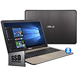 "Asus VivoBook Notebook, Display 15.6 "" HD LED, Amd Dual Core 64 bit fino a 2.60Ghz 4GB RAM ddr4, Ssd 240GB,pc portatile Windows 10 Professional"