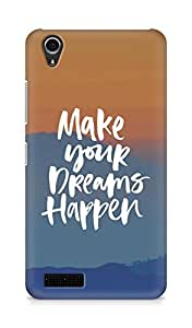 AMEZ make your dreams happen Back Cover For Lenovo A3900